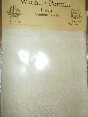 "Cross stitch Fabric Linen ""Lambswool ""New by Permin 28ct   27.5"" x 19.5"""
