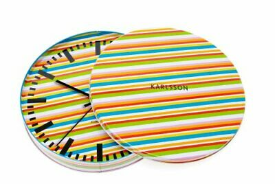Karlsson Kitchen Wall Clock in a gift tin with striped pattern