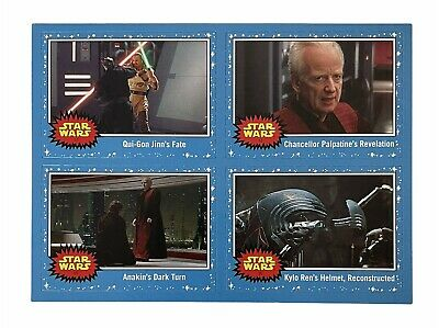Star Wars Rise Of Skywalker Topps Uncut Promo Trading Cards Vintage Style