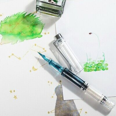 Paint Brushes Piston Refillable Ink Fountain Style Calligraphy Pen Soft Bru L0Z1