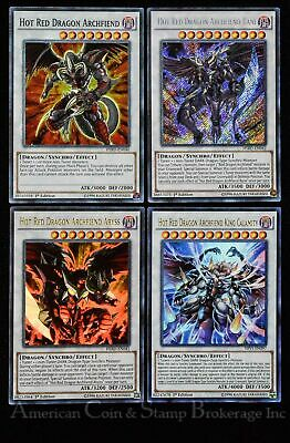 Yugioh Hot Red Dragon Archfiend + Abyss + Bane + King Calamity NM 1st Edition