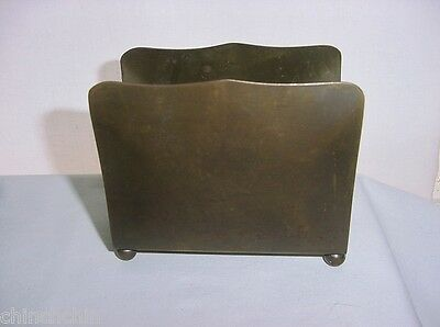 Outstanding ARTS and CRAFTS BRASS or BRONZE Mission LETTER HOLDER Rich Patina