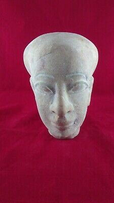 Ancient Egyptian Antiquities head of God Ptah (4th to 3rd century BC)