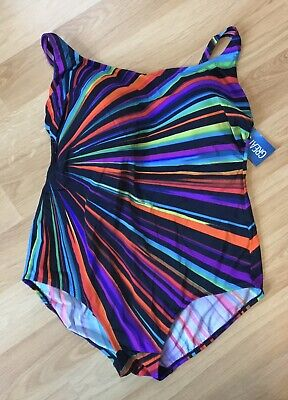 Great Lengths One Piece Swimsuit, Multi Color, Slimming Tummy Control, Size 22W
