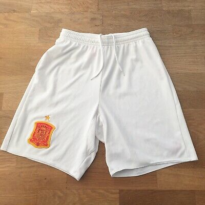 Spain National Football Team Kids Shorts, Age Size 11-12 Years, 152cm, White