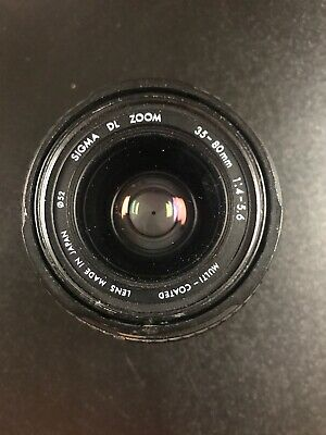 Sigma DL Zoom 35-80mm f/4-5.6 Multi-Coated Ø52 Zoom Lens For Canon EF