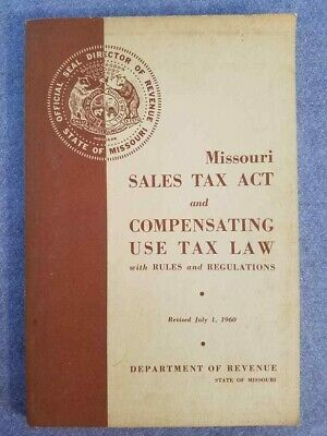 1960 Missouri Sales Tax Act & Compensating Use Tax Law w/ Rules & Regulations