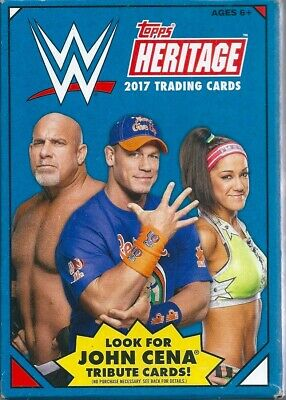 2017 wwe heritage 32 trading cards hanger box