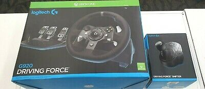 Logitech G920 Driving Force Racing Wheel for Xbox One & PC + Shifter