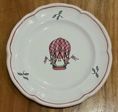 """Small Decorative Plate Pierre Deux Hand Made & Painted 6 1/8"""" - Hot Air Balloon"""