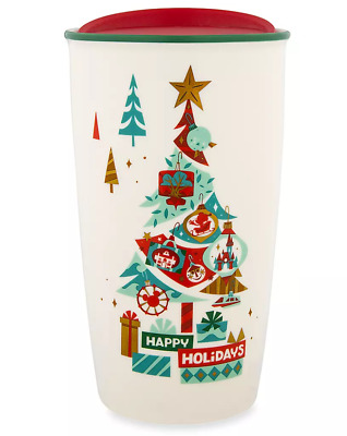 Disney Parks Happy Holidays Starbucks Ceramic Travel Tumbler