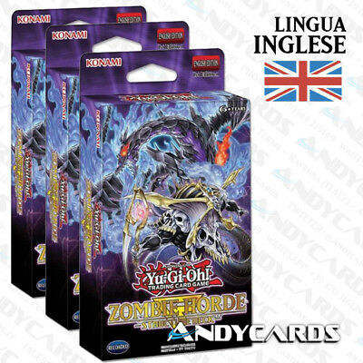 3x Structure Deck ORDA ZOMBIE / HORDE INGLESE • SR07 YUGIOH ANDYCARDS