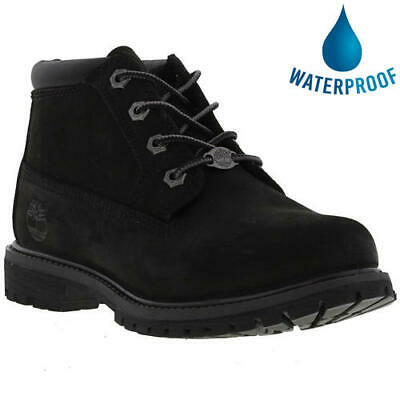 Timberland Nellie Womens Ladies Waterproof Black Leather Chukka Ankle Boots