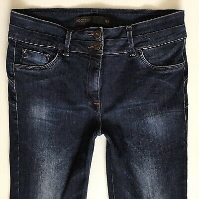 Ladies Next Bootcut Lift & Shape Blue Faded Jeans Size 16 W34 L29 (351)