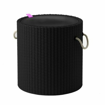 Keter Cool Stool with Rope Handle Charcoal Ourdoor Drink Cooler Storage Table~