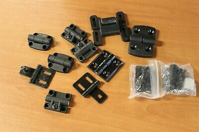 8020 T Slot Mixed Metal Plastic Hinges Black Lot BM (12pcs)