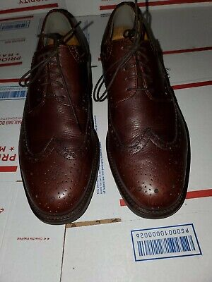 Vito Rufolo Mens Shoes Size 8.5 M Wingtip Dress Shoes Brown Leather Italy