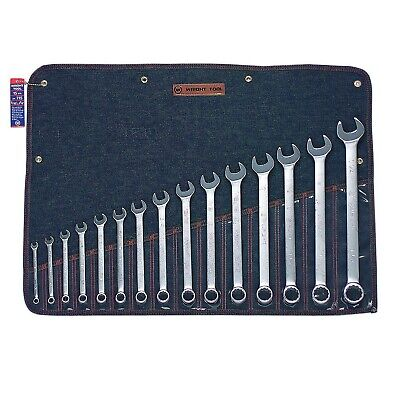 "Wright Tool 715 15 Pc. 12 Pt. Combination Wrench Set 5/16""-1-1/4"""