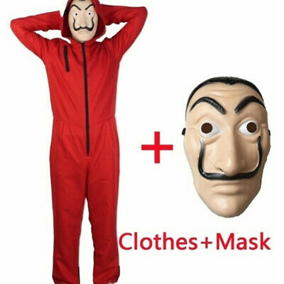 Unisex For Salvador Dali La Casa De Papel Money Heist Cosplay Halloween Costume√