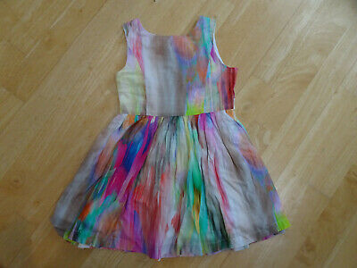 JOHN LEWIS girls multi pattern summer dress AGE 3 YEARS EXCELLENT COND