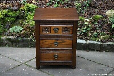 An Old Charm Light Oak Chest Of Drawers Bedside Cabinet Phone Lamp Coffee Table