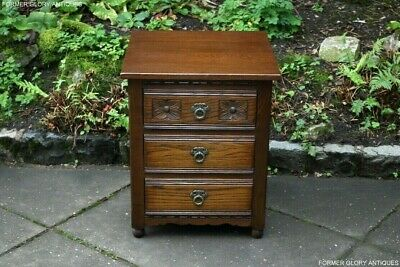 An Old Charm Light Oak Chest Of Drawers Bedside Cabinet Lamp Phone Coffee Table