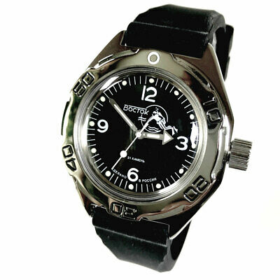 Vostok Amphibian 670919 Watch Scuba Diver Military Russian Automatic.Brand New