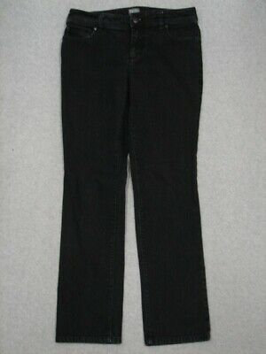 QA13448 **ADDITION'S BY CHICO'S** STRAIGHT LEG WOMENS JEANS sz0R BLACK
