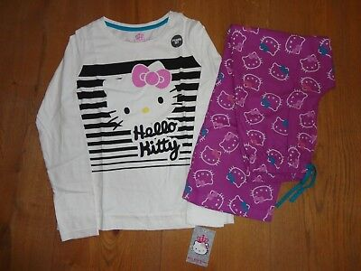 Bnwt   M&S Girls  Hello Kitty Pyjamas / Pyjama Set   Age 9 - 10 Years Must L@@K