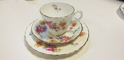 Retro vintage New Chelsea bone China Tea cup, Saucer & Side Plate