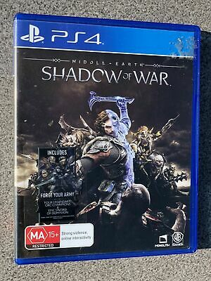 Middle Earth Shadow of War - Playstation PS 4 Video Game - FREE / FAST POSTAGE