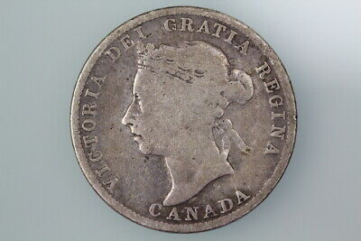 Canada 25 Cents Coin 1888 Km5 Very Good