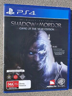 Middle Earth Shadow of Mordor GAME OF THE YEAR VERSION - Playstation PS 4 Game
