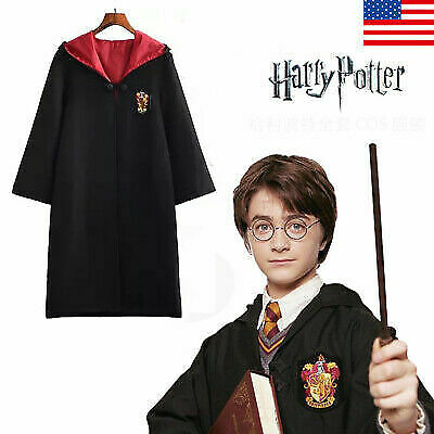 Harry Potter Costume Scarf Tie Robe Cloak Gryffindor Cos Hogwarts Us Halloween