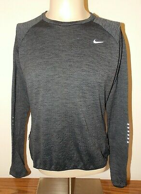Womens Nike Dri-Fit Therma Sphere Element Running Top X-Large Gray # 812042