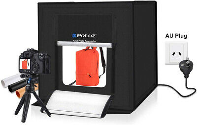 Mini Photo Studio Box Photography Light Tent Kit Backdrop Black Orange White NEW
