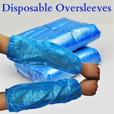 1000 BLUE Disposable Plastic Arm Sleeves Covers Oversleeves Cleaning Protective
