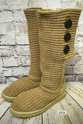 Womens Ugg Boots Knit Classic Cardy Tan Size 8