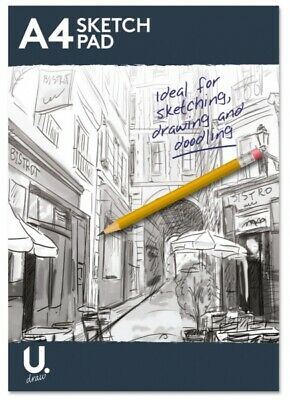 A4 Sketch Pad Book 70GSM White Paper 100 PGS Artist Sketching Drawing Art Craft