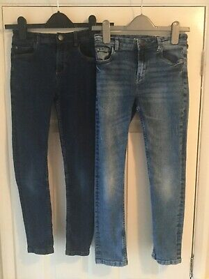 Next Boys Skinny Blue Jeans Age 10 Years - Two pairs