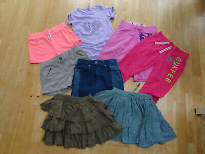 NEXT girls 8 piece summer clothes bundle skirt shorts trousers AGE 9 YEARS