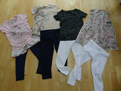 NEXT girls 8 piece summer clothes bundle 4 sets leggings t shirt tops AGE 9 YEAR