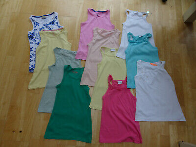 NEXT girls 11 piece summer clothes bundle vests tops AGE 9 YEARS EXCELLENT COND