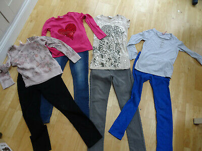 NEXT girls 8 piece spring clothes bundle jeans tops jumpers AGE 9 YEARS