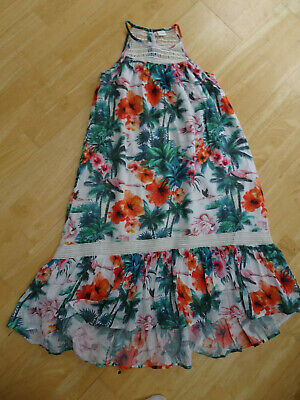 NEXT girls gorgeous tropical floral summer maxi dress AGE 9 YEARS EXCELLENT