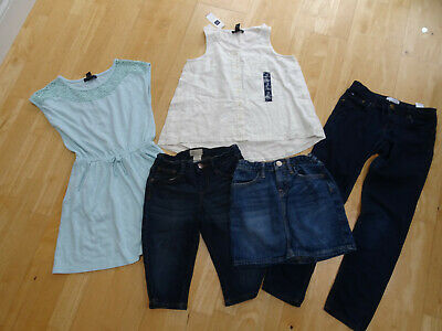GAP girls 5 piece spring summer clothes bundle shorts jeans top AGE 8 - 9 YEARS