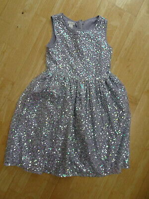 MONSOON girls lilac sequin embellished party occasion summer dress AGE 9 YEARS