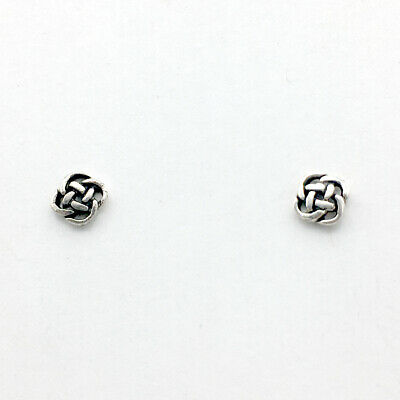 Sterling Silver tiny Round Celtic Knot stud earrings- knots, studs, 1/2 inch