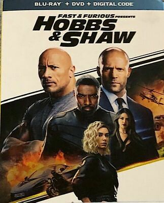 Fast & Furious- Hobbs and Shaw- Blu-ray - DVD - Digital -SEALED w/slipcover