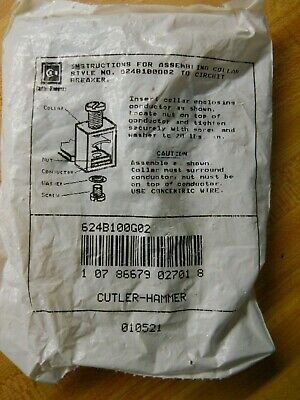 Cutler-Hammer 624B100G02 Collar Style Terminal Kit. 1 Pack Of 3 Terminals New